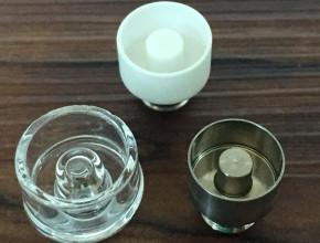 Bolt kit includes titanium, ceramic and quartz nails