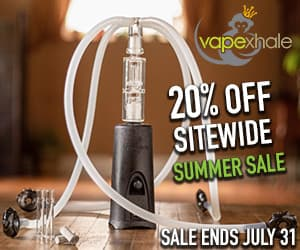 20% OFF sitewide summer sale on VapeXhale premium desktop vaporizers