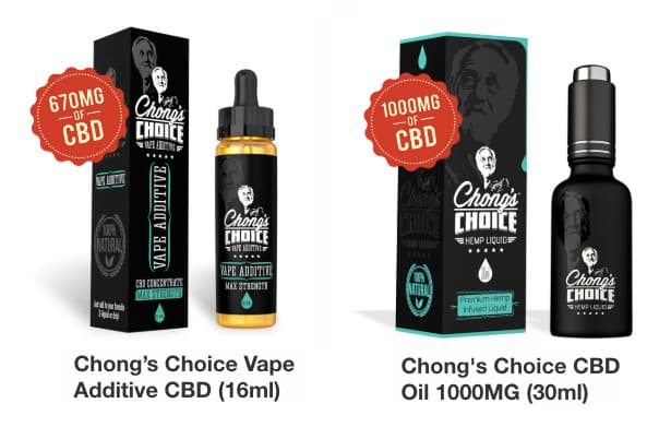 Chong's Chouce CBD vape additive and vape liquid bundle