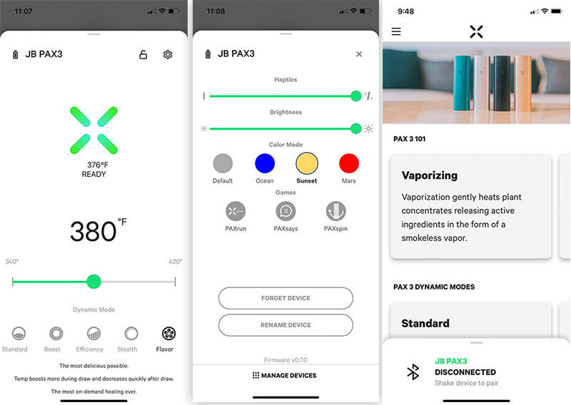 PAX iphone app