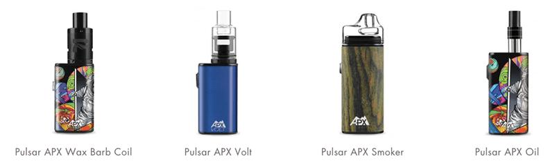 Pulsar APX wax vapes family